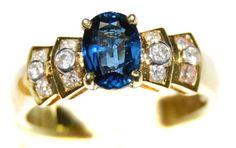 Unique Solitaire 18K Yellow Gold Blue Sapphire Diamond Ring [RS0029] BKGjewelry http://www.amazon.com/dp/B00CDO1DUC/ref=cm_sw_r_pi_dp_w44qwb1R9BBAM
