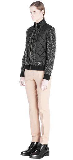 Купить Куртка из шерсти и хлопка Salvatore Ferragamo 11B518 115/9H2 для женщин , цвет черный в интернет-магазине брендовой одежды, обуви и аксессауров Helen Marlen