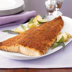 Enjoy this citrus-infused salmon for less than 200 calories! #healthy #dinner #food