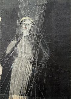 The Renewed Art of Embroidered Photographs--this piece is by Hinke Schreuders