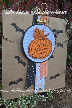 Stampin Up schnelle Geschenktüte Verpackung Cookie Cutter Halloween Jar of Haunts besonderes Designerpapier Gruselnacht