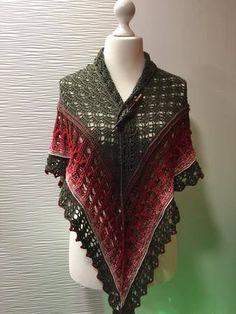 Jagabraut - ein Tuch nicht nur zum Dirndl? Paracord, Crochet Tops, Knitting, Shawls, Blouse, Sweaters, Fiber, Jackets, Fashion
