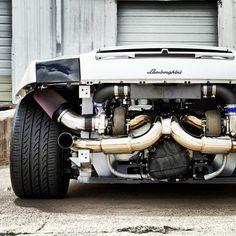 'Naked' Twin-Turbo Lamborghini Gallardo