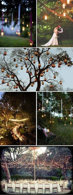 Hanging floating lanterns decorations for outdoor wedding