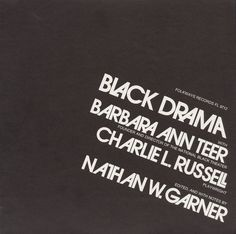 Black Drama with Barbara Ann Teer and Charlie L. Russell - Various Artists
