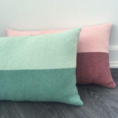 Puder lavet i tunesisk hækling #crochet #tunisian #hakning #pillow #DIY