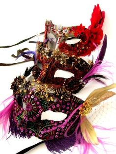 A masquarade party for New Year's Eve.