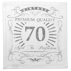 70th Birthday Gag Gift Cloth Napkin  $44.25  by birthdaygifts  - cyo customize personalize unique diy idea