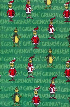 Holiday Inspirations Fabric-Christmas Grinch Fleece Green at Joann.com