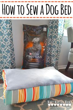 Learn how to sew a dog bed using this simple step by step tutorial with pictures. #SavorThePossibilities #sewingprojects #howtosewadogbed #diydogbed #sewingideas #AD