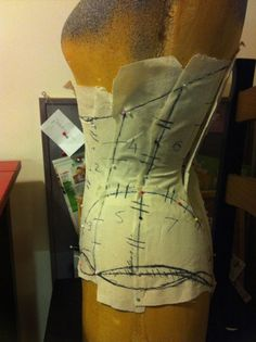 Facebook Twitter Google+ Pinterest Tumblr Last night I started constructing a new pattern for a really sturdy tight lacing corset to start corset training with again. As some of you already know, I stopped some time ago now and have been meaning to start again. Part of the problem I had was not having a …