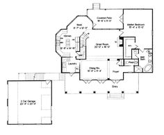 Country Southern House Plan 63003 Level One