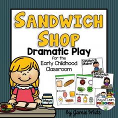 Sandwich Shop Dramatic Play Printable Set