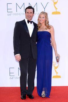 Jon Hamm and Jennifer Westfeldt at event of The 64th Primetime Emmy Awards