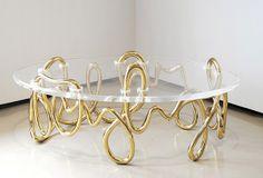 Mattia Bonetti, Oval Meander coffee table