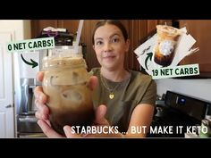 STARBUCKS KETO DUPE! // Iced Brown Sugar Oat Milk Shaken Espresso Latte - YouTube