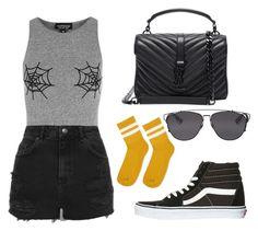 """Sin título #290"" by fweakydarcy on Polyvore featuring moda, Topshop, Vans, Christian Dior y Yves Saint Laurent"