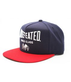 Undefeated World Class Snapback Hat (Navy Red)http   hatstash. 66c826aee9c9
