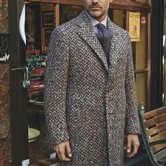 Well covered but not weighted down. From #IsaiaNapoli, winter's tailored tweed topcoat.