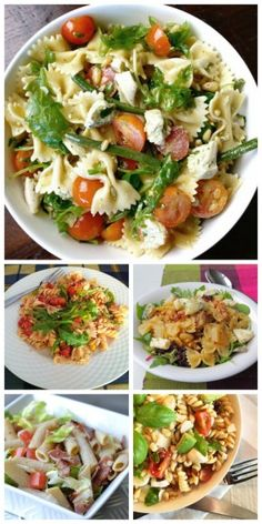 LMF's favorites: pastasalade Pasta Salad, Cobb Salad, Healthy Diners, Baked Potato, Potato Salad, Lunch Box, Potatoes, Healthy Recipes, Baking