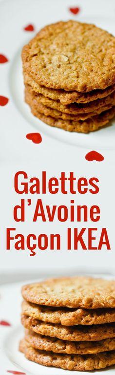 LA recette des fameuses galettes à l'avoine de chez IKEA, ces biscuits suédois nommés havreflarn. En version nature ou au chocolat, c'est un délice !