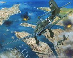 Malta 1940-42: the Axis' air battle for Mediterranean supremacy, by Graham Turner (Junkers Ju 87B Stuka)
