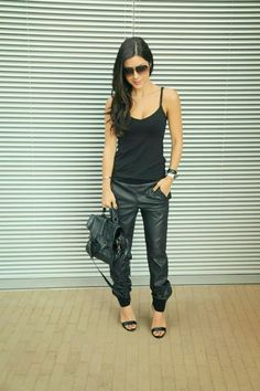 The HONEYBEE: Leather Joggers... I want these pants sooooo bad