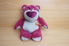 Disney Store Original Toy Story Lotso  Bear - Strawberry Smell  NWT  | eBay Jellycat, Toy Story, Dinosaur Stuffed Animal, Strawberry, Plush, Bear, The Originals, Store, Disney