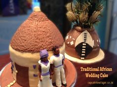 African Wedding Cakes, African Wedding Theme, African Cake, African Hut, African American Weddings, African Weddings, Wedding Cake Prices, Traditional Cakes, Traditional Dresses