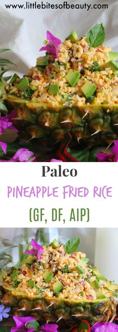 This easy weeknight meal is perfect for lunch or dinner! This Paleo recipe for Pineapple Fried Rice is gluten free, dairy free and soy free, making it a healthy alternative to a family favorite!