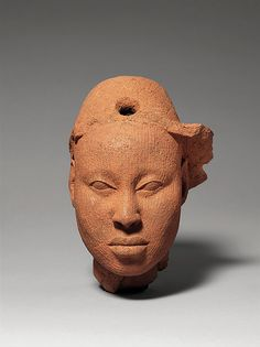 Date: 12th–15th century Geography: Nigeria, Ife Culture: Yoruba peoples Medium: Terracotta Dimensions: H. x W. x D.: 6 5/8 x 4 1/4 x 5 in. (16.8 x 10.8 x 12.7 cm) Classification: Ceramics-Sculpture Credit Line: The Kronos Collections