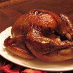 Herb-Glazed Roasted Turkey @keyingredient #honey
