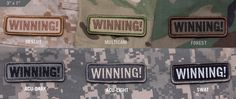 """Thanks for this one Mr. Sheen. Get the """"WINNING!"""" morale patch, and many others at sawtac.com"""