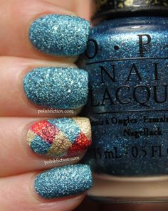 OPI Tiffany Case and fish tail braid accent nail