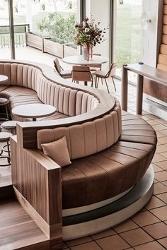 Domaine Chandon by Foolscap Studio - Australian Interior Design Awards Restaurant Design, Restaurant Seating, Restaurant Furniture, Restaurant Bar, Bar Seating, Cafe Furniture, Leather Furniture, Boutique Interior Design, Interior Design Awards
