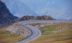 Driving Beartooth Pass, Montana