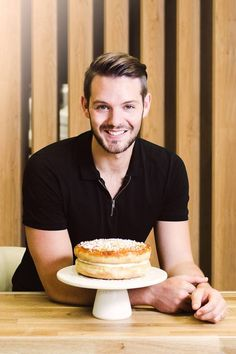 """Former Great British Bake Off winner John Whaite: """"I've baked for a few people; I took Miranda Hart a cake when I went to see her live tour. I think I'd like to bake for her. British Bake Off Winners, Great British Bake Off, John Whaite, Miranda Hart, London Cake, Tasty, Yummy Food, Food Festival, Baking"""