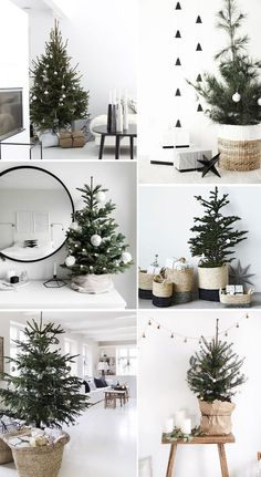 113 incredibly chic modern minimalist christmas trees - page 26 ~ Modern House D. 113 incredibly chic modern minimalist christmas trees - page 26 ~ Modern House Design Always wanted to discover how to k. Minimalist Christmas Tree, Christmas Mood, Christmas Crafts, Christmas Tree Simple, Black Christmas, Christmas Countdown, Hygge Christmas, Christmas Tree Basket, Holiday Baskets