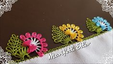 This Pin was discovered by Zey Needle Tatting, Needle Lace, Crochet Flower Tutorial, Crochet Flowers, Lace Embroidery, Embroidery Patterns, Saree Tassels, Hairpin Lace, Crochet Motifs