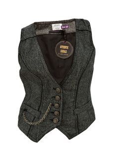 New Authentic Casuals Ladies Womens Grey Herringbone Waistcoat | eBay