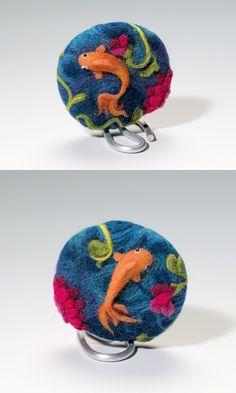 Felted bead by Kim Vanantwerp via Fire Mountain Gems