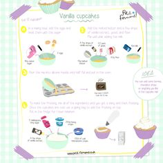 Cupcake Recipes 90681 Make delicious vanilla cupcakes, perfect for family snacks! Kids Cooking Recipes, Cooking With Kids, Fun Cooking, Kids Meals, Cupcakes Amor, Yummy Cupcakes, Vanille Cupcakes, Vanilla Recipes, Savoury Cake