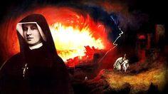 Il coraggio di guardare il cielo: Descrizioe dell 'inferno dal Diario di Santa Faust... Faustina Kowalska, Mona Lisa, Santa, Artwork, Painting, Sky, March, Religious Pictures, Work Of Art