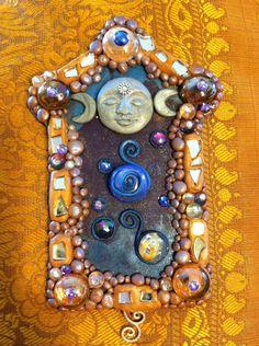 Triple Moon Mother Selene Goddess Altar Shrine Home Decor - Goddess Art  via Etsy.