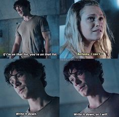 Bellarke the list Bellarke, The 100 Cast, The 100 Show, It Cast, Movies Showing, Movies And Tv Shows, Bellamy The 100, The 100 Quotes, The 100 Characters