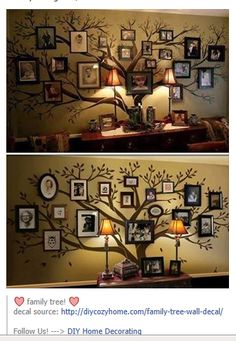 family tree wall @marnee Dortch Hardie make this more me