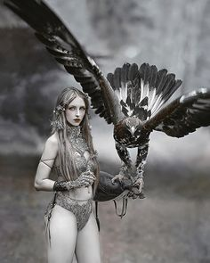 My another one, fantasy picture from series with very brave girl 💕 & an eagle Alpina ✨in costume from 💕 Fantasy Girl, Fantasy Warrior, Fantasy Women, Dark Fantasy, Fantasy Photography, Girl Photography, Spirited Art, Wolves And Women, Brave Girl
