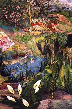 Invitation to an Open Garden, quilt by Caroll Pichelmann