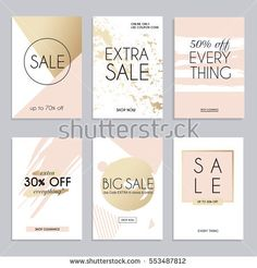Sale website banners web template collection. Can be used for mobile website banners, web design, posters, email and newsletter designs.