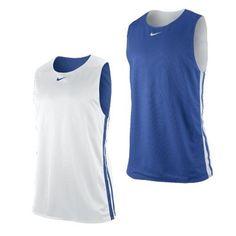 124b6e95a1f0 Mens New Nike Reversible Basketball Vest Tank Top Sleeveless T-Shirt White  Blue